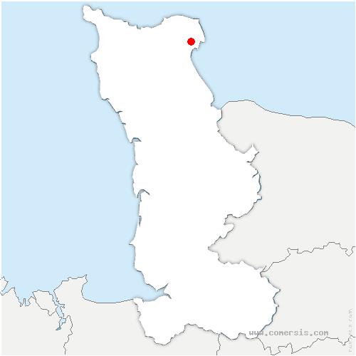 carte de localisation de Quettehou