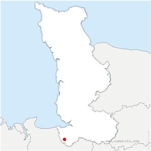 carte de localisation de Sacey