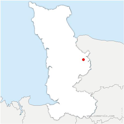 carte de localisation de Saint-André-de-l'Épine