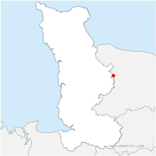 carte de localisation de Saint-Germain-d'Elle