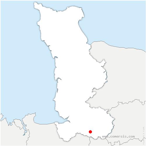 carte de localisation de Saint-Hilaire-du-Harcouët