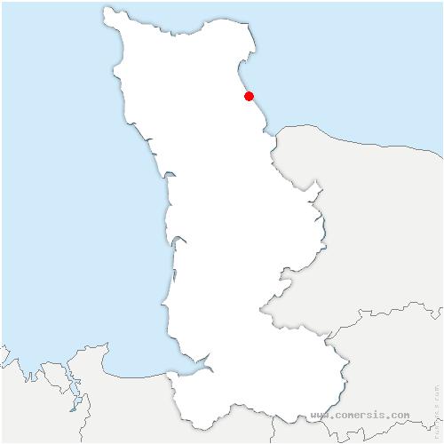 carte de localisation de Saint-Marcouf