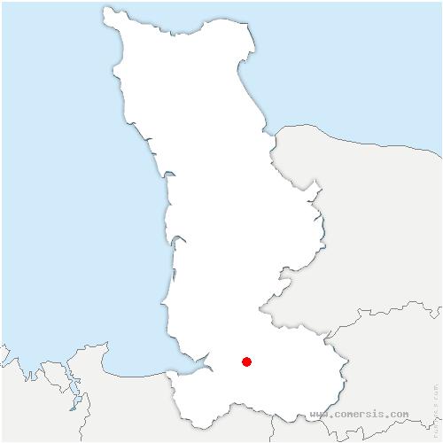 carte de localisation de Saint-Ovin