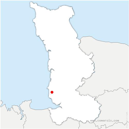 carte de localisation de Saint-Pair-sur-Mer