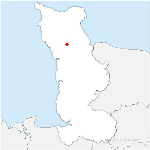 carte de localisation de Saint-Sauveur-le-Vicomte