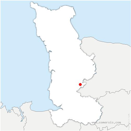 carte de localisation de Saint-Vigor-des-Monts