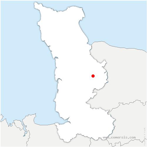 carte de localisation de Sainte-Suzanne-sur-Vire