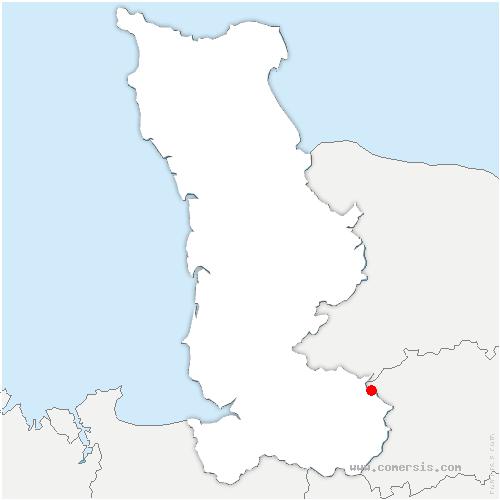 carte de localisation de Sourdeval