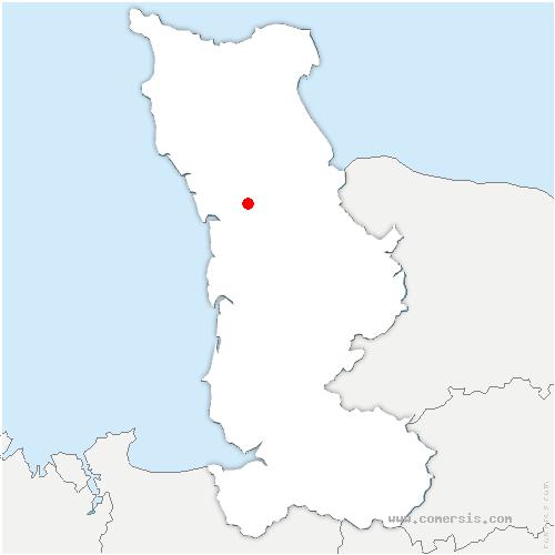 carte de localisation de Vesly