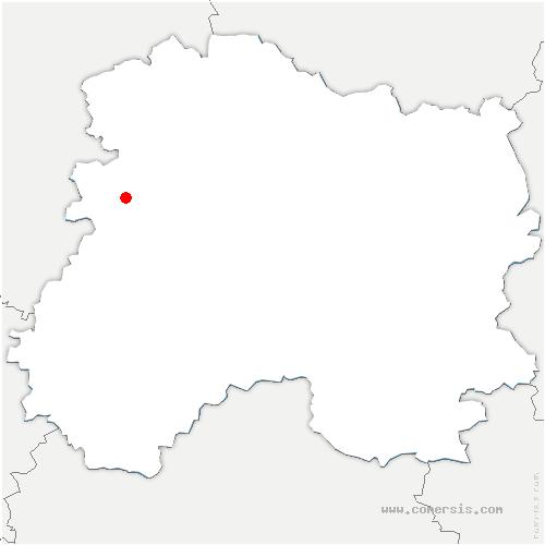 carte de localisation de Œuilly
