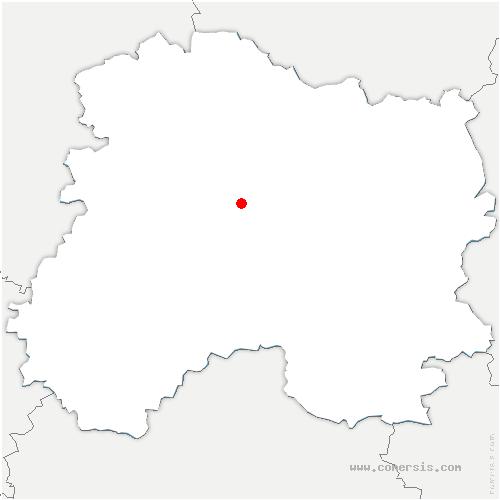 carte de localisation de Aigny