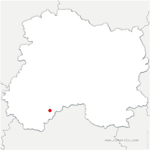 carte de localisation de Angluzelles-et-Courcelles