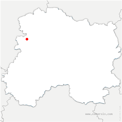 carte de localisation de Anthenay