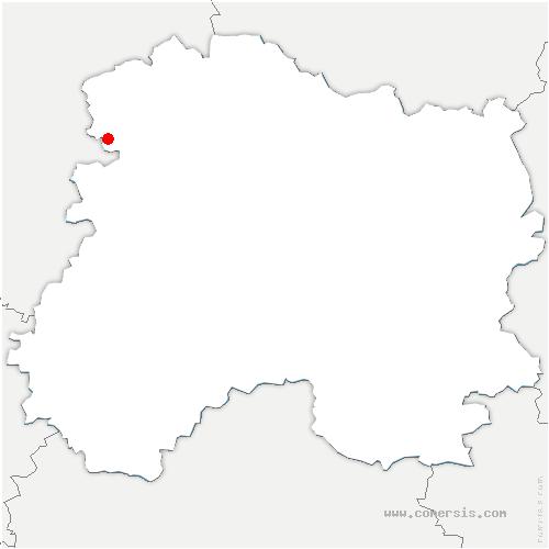 carte de localisation de Aougny