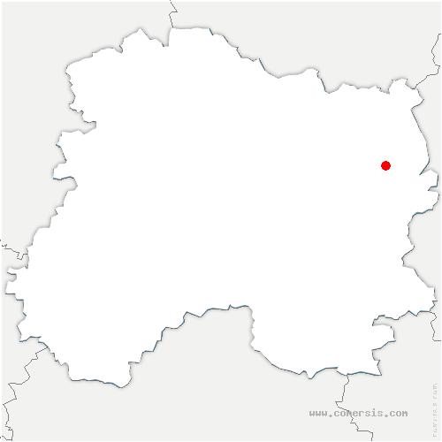 carte de localisation de Argers