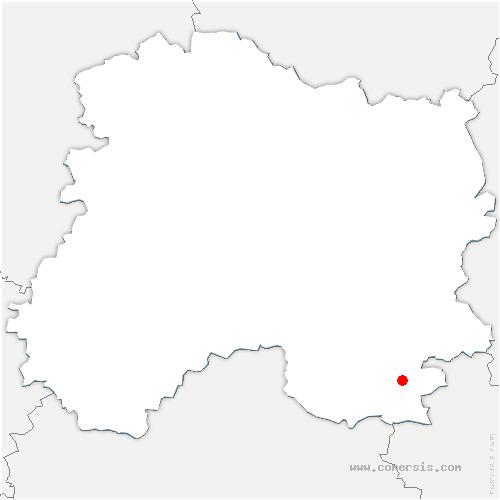 carte de localisation de Arrigny