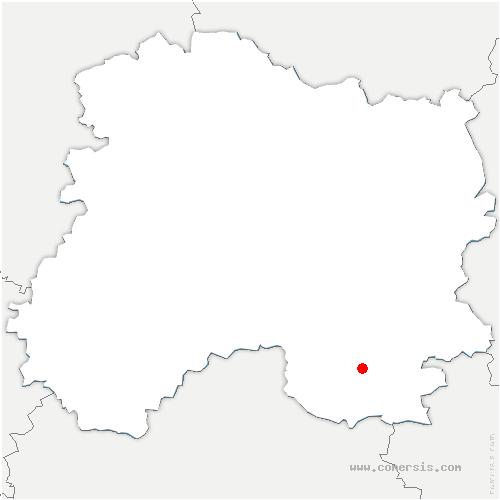 carte de localisation de Arzillières-Neuville