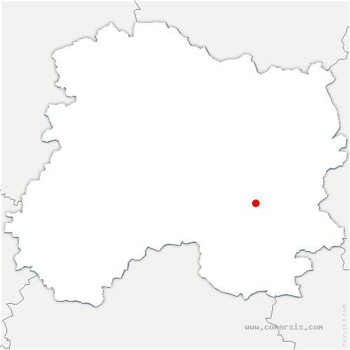 carte de localisation de Aulnay-l'Aître