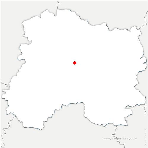 carte de localisation de Aulnay-sur-Marne