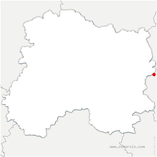 carte de localisation de Belval-en-Argonne