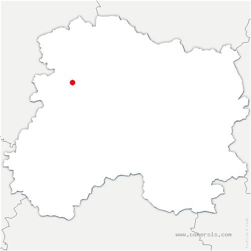 carte de localisation de Belval-sous-Châtillon