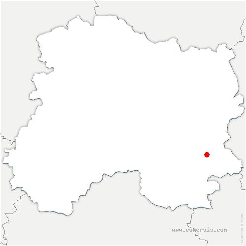 carte de localisation de Bignicourt-sur-Saulx