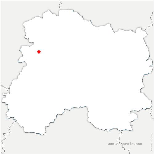 carte de localisation de Binson-et-Orquigny
