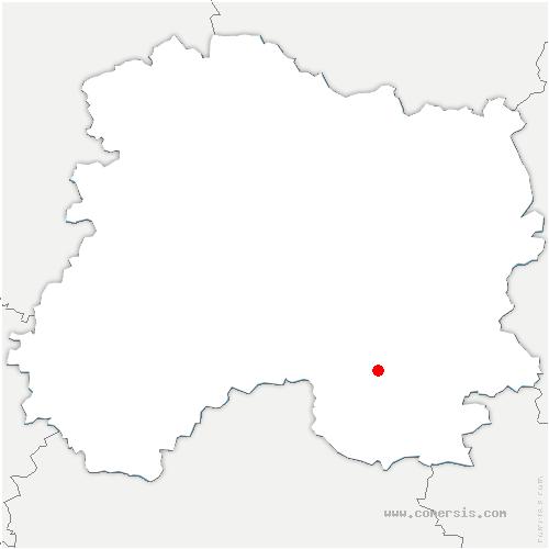 carte de localisation de Blacy