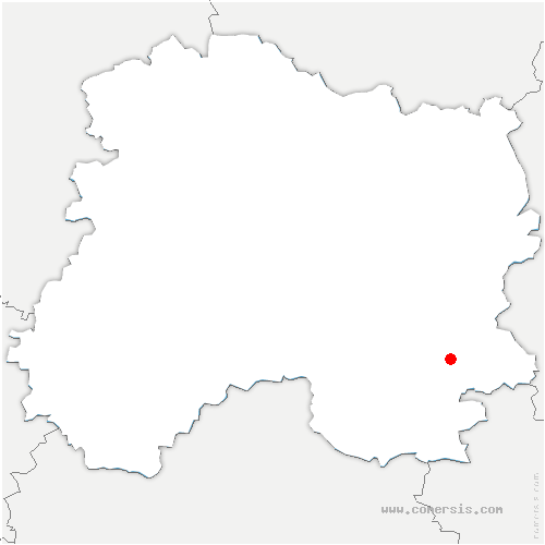 carte de localisation de Bligny