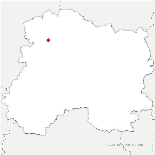 carte de localisation de Bouilly