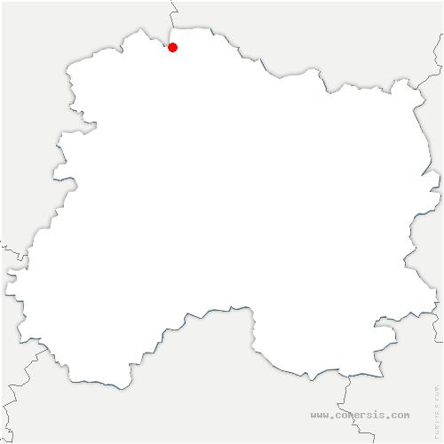 carte de localisation de Bourgogne-Fresne