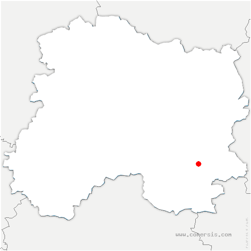 carte de localisation de Brusson