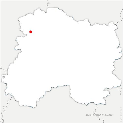 carte de localisation de Chambrecy
