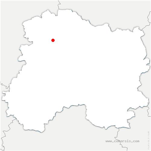 carte de localisation de Chamery