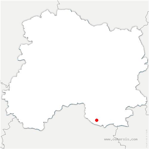 carte de localisation de Chapelaine
