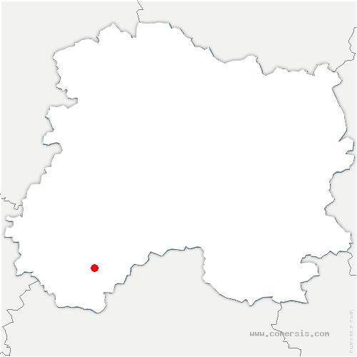 carte de localisation de Chapelle-Lasson