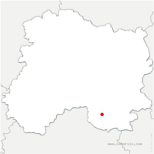 carte de localisation de Châtelraould-Saint-Louvent