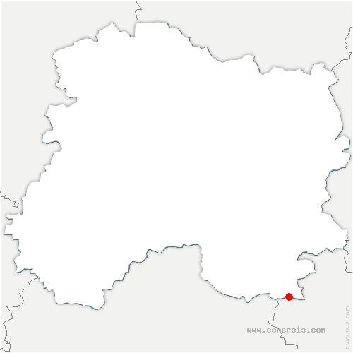 carte de localisation de Châtillon-sur-Broué