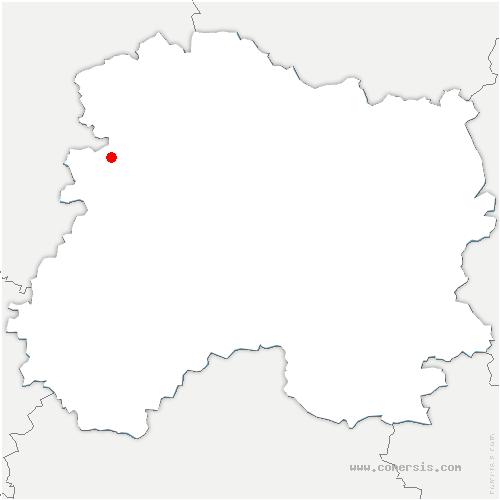 carte de localisation de Châtillon-sur-Marne