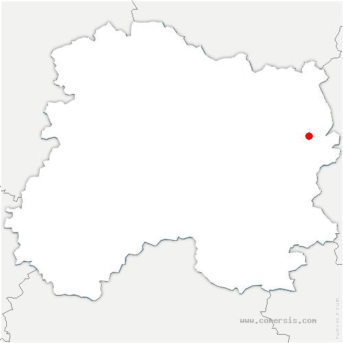 carte de localisation de Châtrices