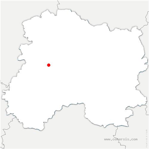 carte de localisation de Chavot-Courcourt