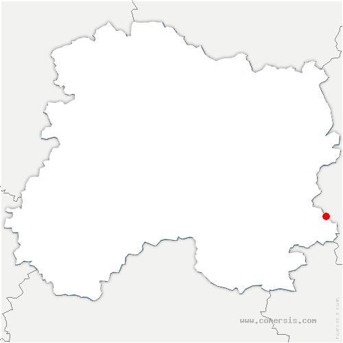 carte de localisation de Cheminon