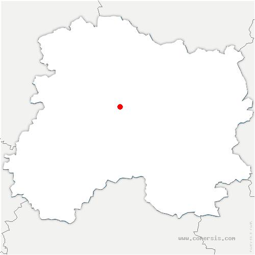 carte de localisation de Cherville
