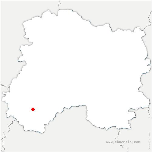 carte de localisation de Chichey