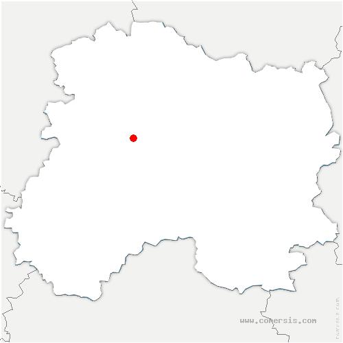 carte de localisation de Chouilly