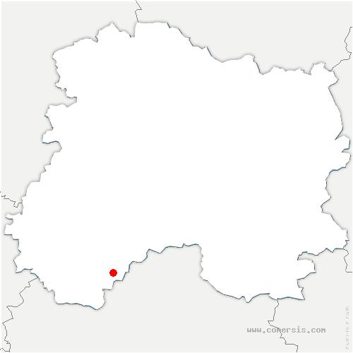 carte de localisation de Courcemain