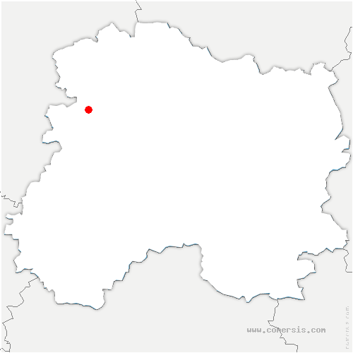 carte de localisation de Cuchery