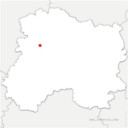 carte de localisation de Damery