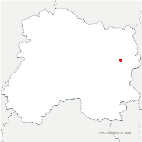 carte de localisation de Dommartin-Varimont
