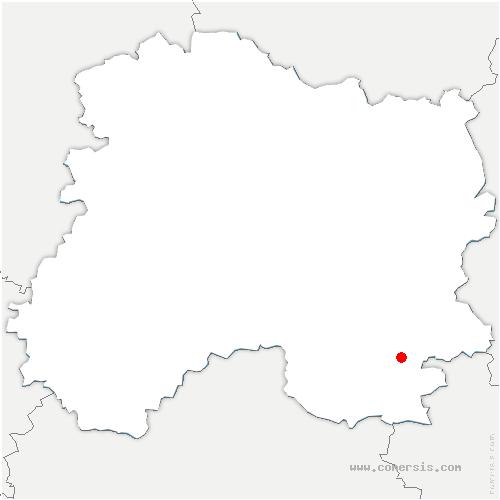 carte de localisation de Écriennes